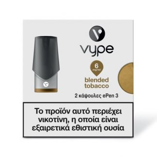 Vype ePen 3 Caps - Blended Tobacco 6mg/ml