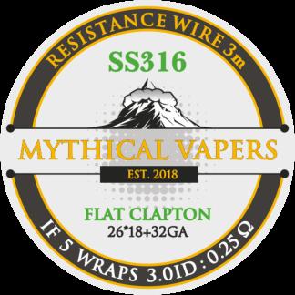 DL Flat Clapton SS316 (ribbon 26*18+32GA) 3m
