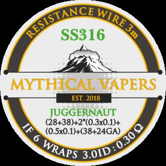 DL Juggernaut SS316 ((28+38)*2riboon(0.3mm + 0.1mm) x (0.5mm x 0.1mm)+38+24GA) ) 3m