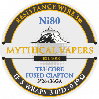 DL Tri-core Fused Clapton (3*26 + 36GA) Ni80 3m