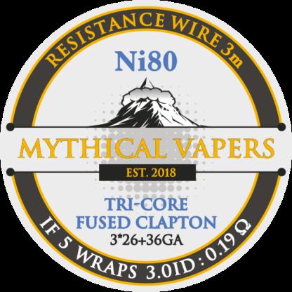 DL Tri-core Fused Clapton (3*26 + 36GA) Ni80 3m